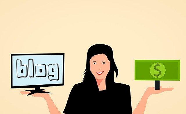znázornění vydělávání peněz pomocí webových stránek